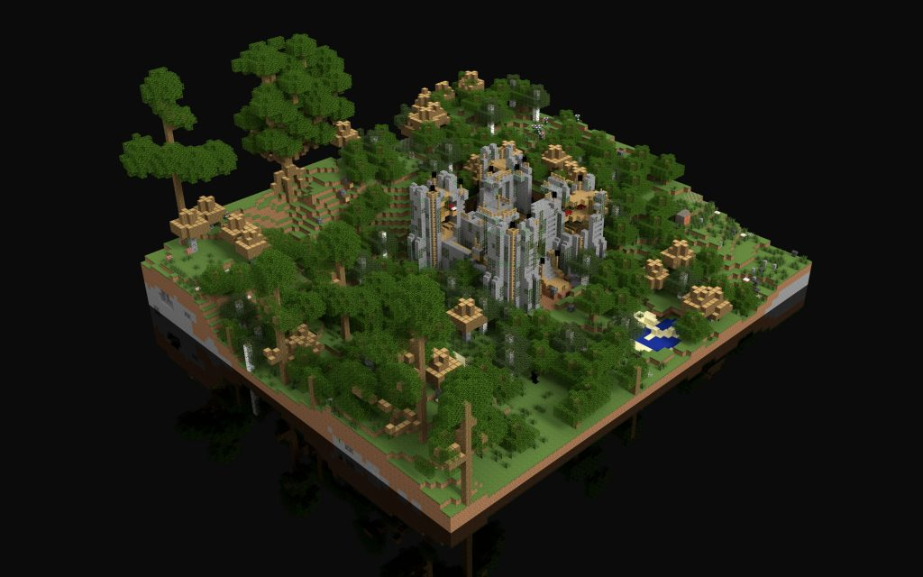 Full colour Minecraft render
