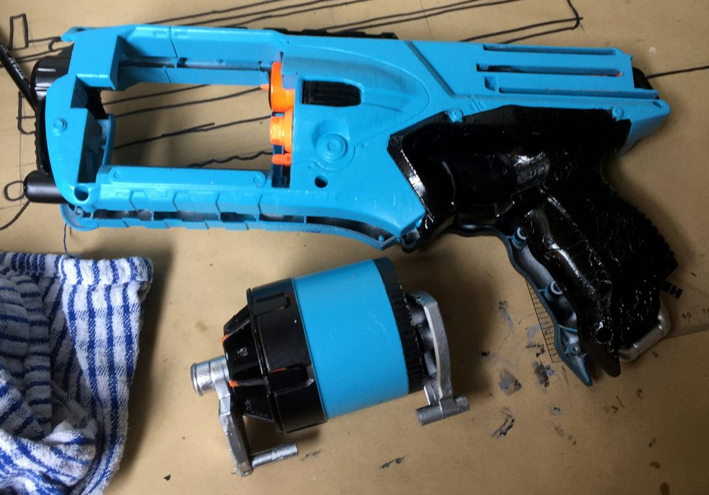 Custom spray painted Nef Strongarm